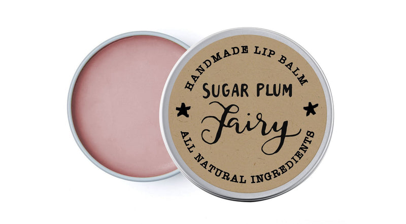 Sugar Plum Fairy - Rose Geranium & Peppermint - lip balm by Literary Lip Balms