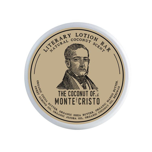The Coconut of Monte Cristo Lotion Bar - Lotion Bar by Literary Lip Balms