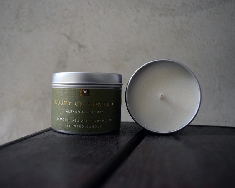 The Count of Monte Cristo Book Candle - candle by Literary Lip Balms