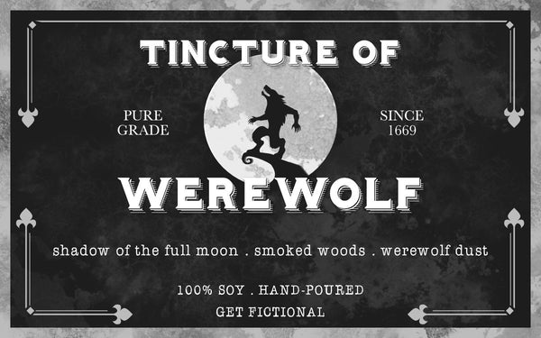 Tincture of Werewolf 4oz Soy Candle - Literary Lip Balms