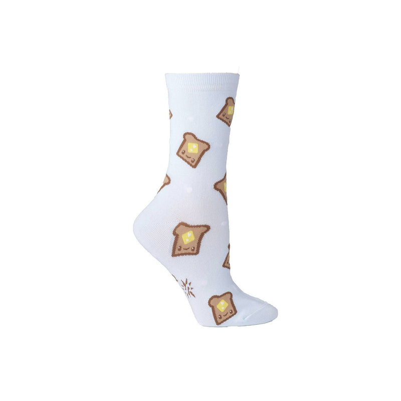 Women's Crew Socks - Butter Me Up - socks by Literary Lip Balms