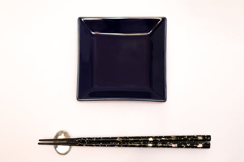Small Square Plate - Navy