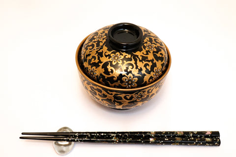 Bowl with Lid - Gold Shougun