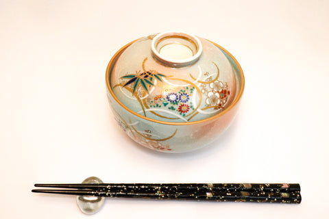 Bowl with Lid - Gold Shichihou