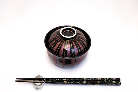 Bowl with Lid - Tenmoku Purple