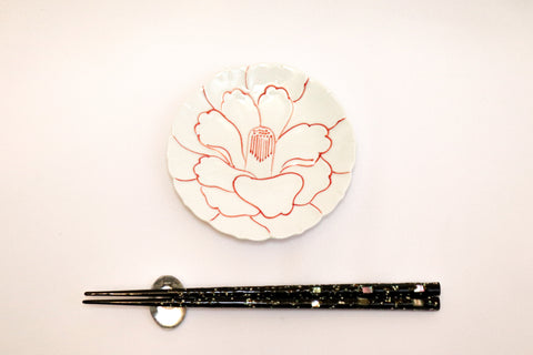 Small Plate - Red Line Camellia