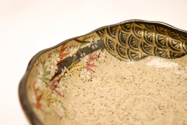 Kodai Plate - Gold Take Sakura - 25 pieces set