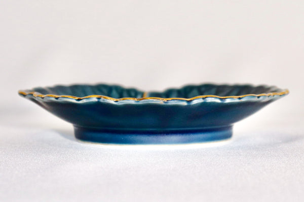 Small Plate - Gold Bordering Ivy Leaf