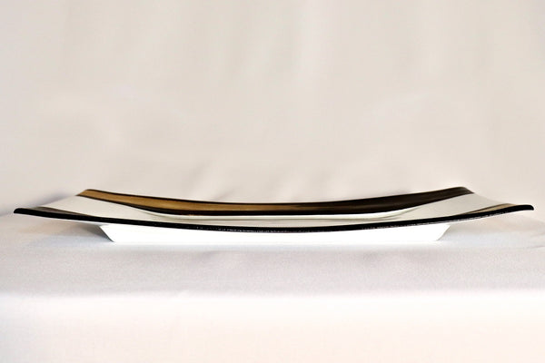 Serving Tray - Gold and Silver Carving Line
