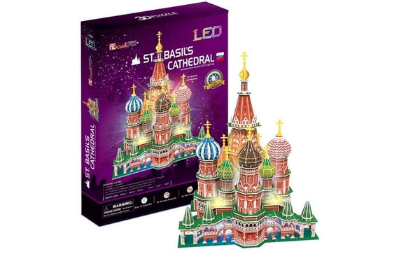 CubicFun St. Basil's Cathedral (Russia) 224pcs w/LED unit<br>(Shipped in 10-14 days)