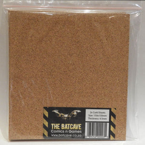 Cork Sheets 2x 150x150mm 4.5mm Thick