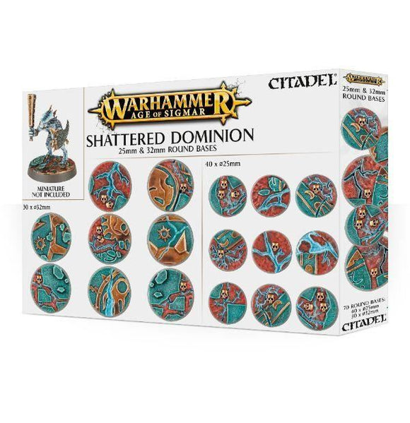 66-96 Shattered Dominion 25mm and 32mm Round Bases