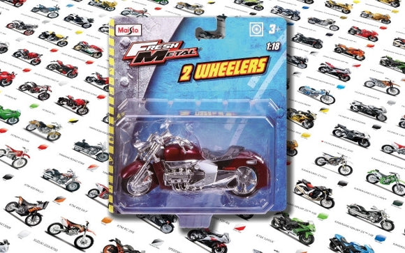 Maisto 1/18 Motorcycles (12 Asst)<br>(Shipped in 10-14 days)