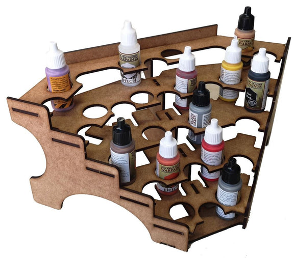 25mm Paint Rack Corner Section (31 bottles)