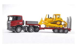 Bruder Toys SCANIA R-Series Low Loader w/CAT Bulldozer<br>(Shipped in 10-14 days)