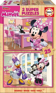 Educa Minnie & The Happy Helpers (2x25pc)<br>(Shipped in 10-14 days)
