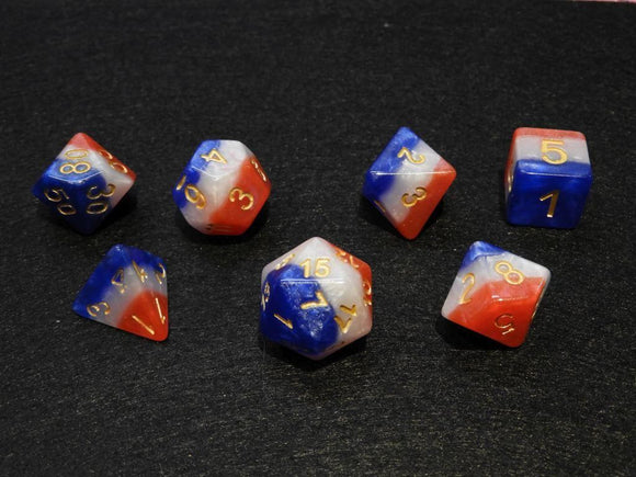 Polyhedral Dice Set 3 Layer Multicolour