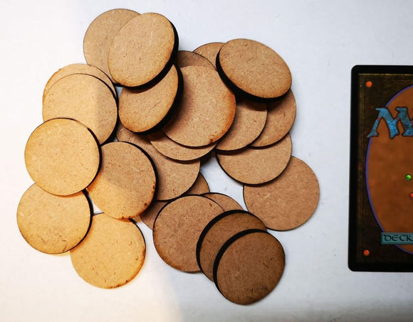 MDF Bases - 25x Round 32mm