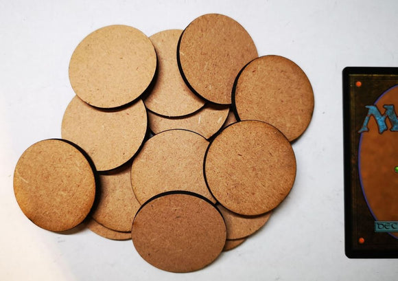 MDF Bases - 15x Round 40mm