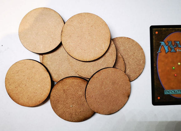 MDF Bases - 10x Round 50mm