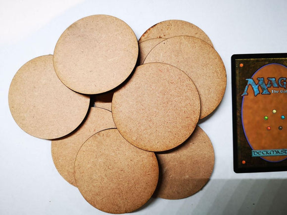 MDF Bases - 10x Round 60mm