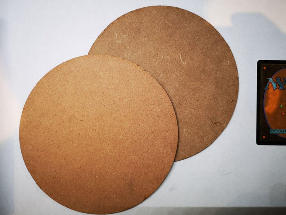 MDF Bases - 2x Round 160mm