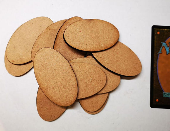 MDF Bases - 12x Oval 60x35mm