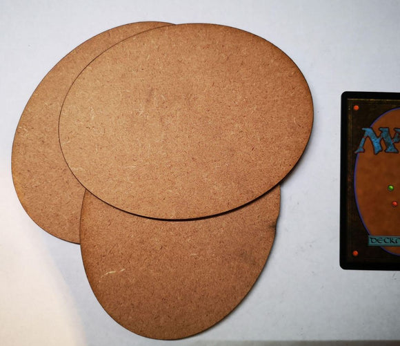 MDF Bases - 3x Oval 120x92mm