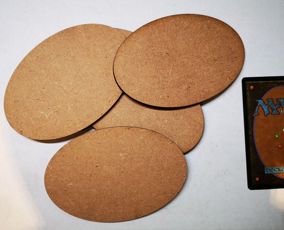 MDF Bases - 5x Oval 105x70mm