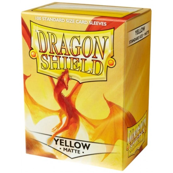 Yellow Matte Dragon Shield Sleeves