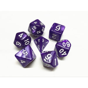 Pearl Purple Dice Set (7pcs)
