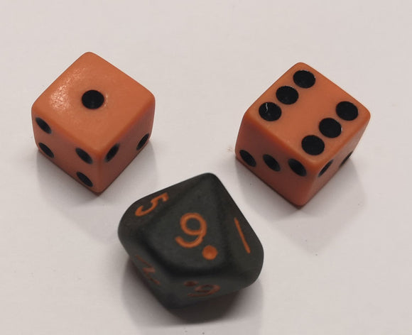 Counter Dice Orange