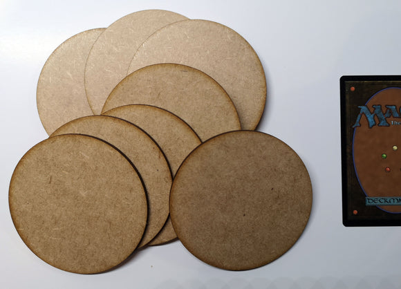 MDF Bases - 8x Round 80mm