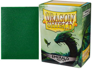 Emerald Matt Dragon Shield Sleeves
