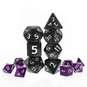 Dice: Giant Pearl Black