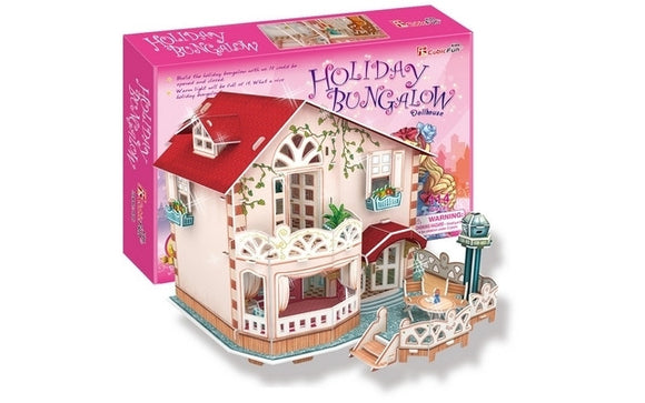 CubicFun Holiday Bungalow Dollhouse 114pcs<br>(Shipped in 10-14 days)