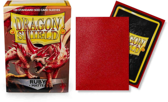 Ruby Matt Dragon Shield Sleeves