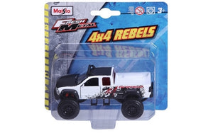 "Maisto 4.5"" FM 4x4 Rebels (6 Asst)<br>(Shipped in 10-14 days)"