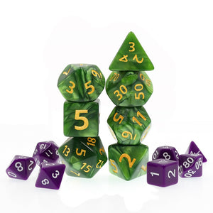 Polyhedral Dice Set Giant Pearl Green