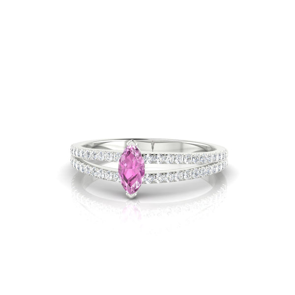 Adelaide Saphir rose | Marquise 6 x 3 mm Argent 925