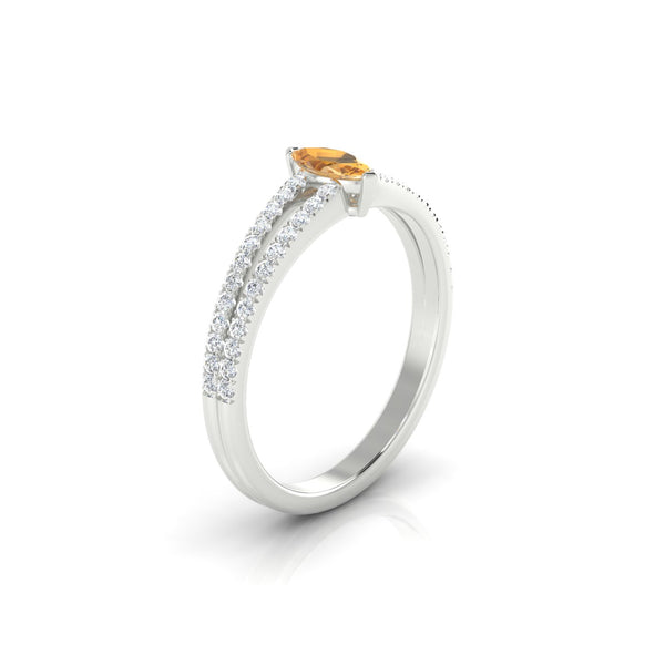 Adelaide Citrine | Marquise 6 x 3 mm Argent 925