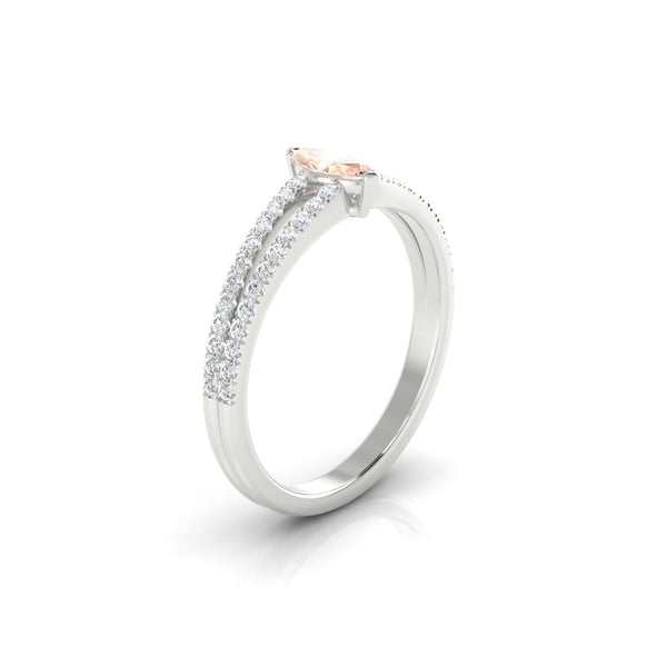 Adelaide Morganite | Marquise 6 x 3 mm Argent 925