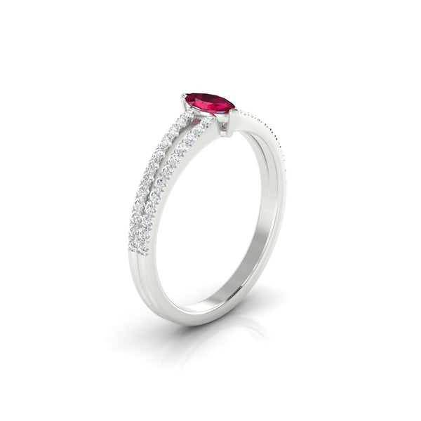 Adelaide Rubis | Marquise 6 x 3 mm Argent 925