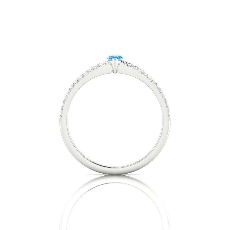 Adelaide Topaze | Marquise 6 x 3 mm Argent 925