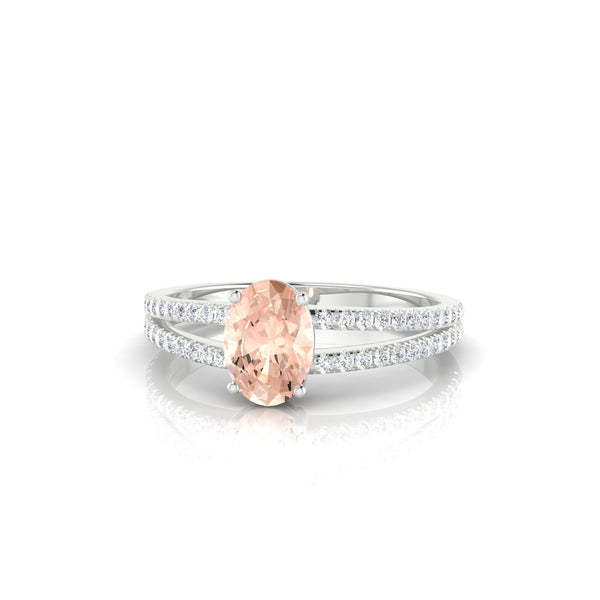 Adelaide Morganite | Ovale 7 x 5 mm Argent 925