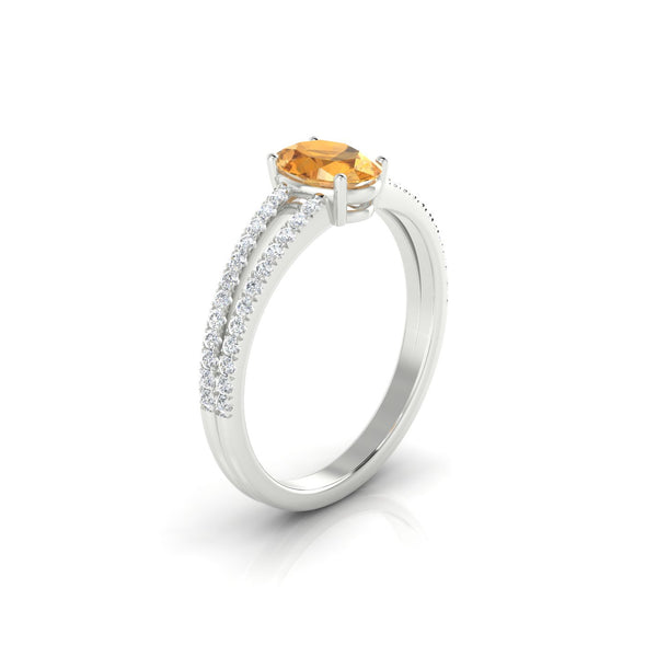 Adelaide Citrine | Ovale 7 x 5 mm Argent 925