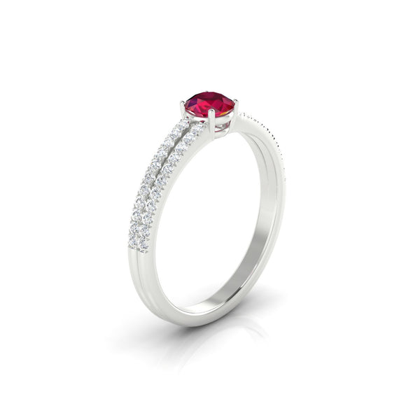 Adelaide Rubis | Ronde 4.5 mm Argent 925