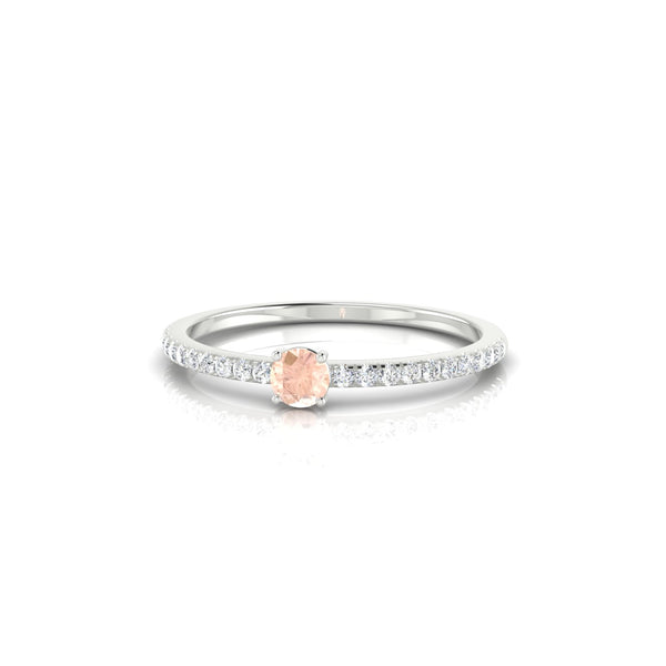 Alienor Morganite | 3 mm Argent 925 Ronde