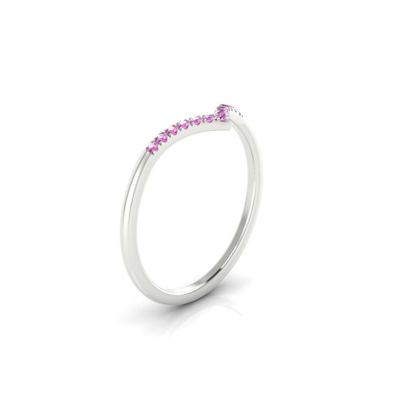 Apollon Saphir rose | 1.1 mm Argent 925 Ronde