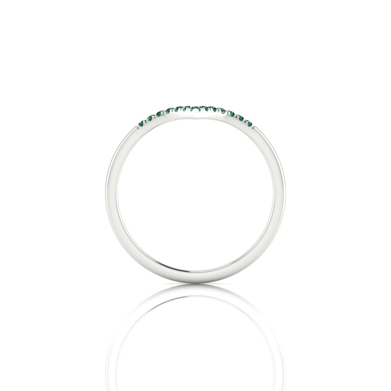 Apollon Emeraude | 1.1 mm Argent 925 Ronde